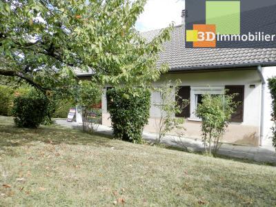LONS-LE-SAUNIER (39), A VENDRE maison familiale 190 m², 5 chambres + bureau, garage, terrain 986 m²., VUE TERRAIN