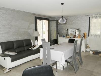 LONS LE SAUNIER (39) à 15 minutes, à vendre maison rénovée 300 m², 3 logements, terrain 13292 m²., PIECE DE VIE logement RDC