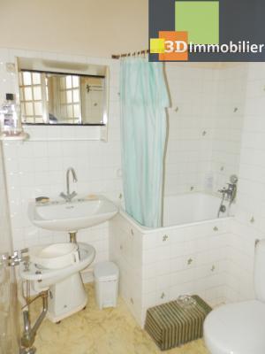 VENTE : LONS-LE-SAUNIER (JURA), A VENDRE maison de caractère 110 m², terrain 688 m², SALLE DE BAINS 3.50 m²