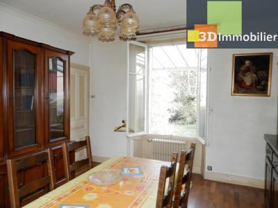 VENTE : LONS-LE-SAUNIER (JURA), A VENDRE maison de caractère 110 m², terrain 688 m², SEJOUR traversant 13.40 m²