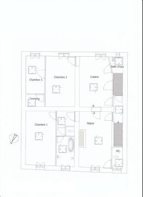 VENTE: SECTEUR LONS LE SAUNIER (39 JURA), A VENDRE MAISON EN PIERRE 112 M², TERRAIN 740 M², PLAN RDC SURELEVE