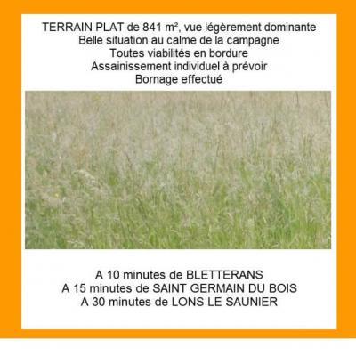 Vente SAINT GERMAIN DU BOIS, terrain constructible 841 m² au calme, viabilités en bordure,