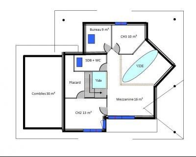 Saint Julien en Genevois (74160) à louer maison contemporaine récente de 7 pièces, Plan Etage
