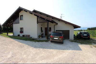 Saint Julien en Genevois (74160) à louer maison contemporaine récente de 7 pièces, Façade Est