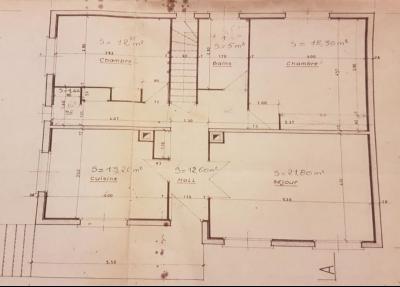 Secteur Bletterans, à vendre maison sur sous-sol avec 2460 m² de terrain.,