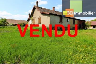 Secteur Sens sur Seille (71) à vendre maison de plain-pied à réhabiliter sur 2059 m² de terrain., MAISON A VENDRE