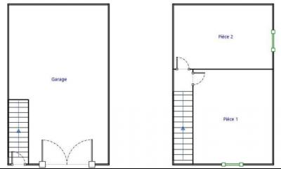 A vendre maison de village, 3 chambres, 553 m² de terrain, au sud de  Lons-le-Saunier., PLAN GARAGE