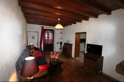 Proche Bletterans (39 JURA), à vendre maison de village 3 chambres avec garage et jardin., SALON 12 m²