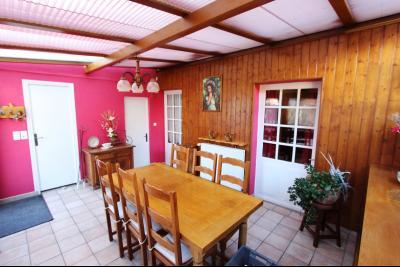Proche Bletterans (39 JURA), à vendre maison de village 3 chambres avec garage et jardin., SEJOUR - VERANDA