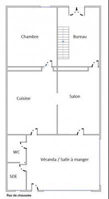 Proche Bletterans (39 JURA), à vendre maison de village 3 chambres avec garage et jardin.,