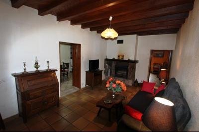 Proche Bletterans (39 JURA), à vendre maison de village 3 chambres avec garage et jardin., SALON 17 m²