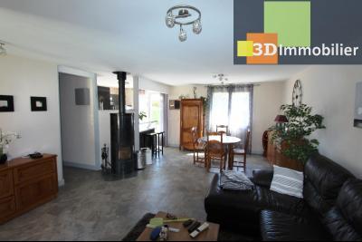 Bletterans, vends maison de plain-pied, 5 pièces, 89 m² habitables sur 867 m² de terrain.,