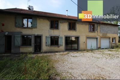 Secteur Clairvaux-les-Lacs (39 JURA), à vendre maison de campagne avec 2 logements indépendants., VUE LOGEMENT 1