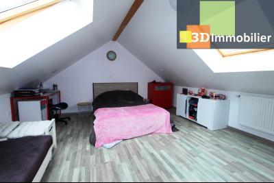 Bletterans centre (39140), à vendre maison de plain-pied avec 5 chambres sur 502 m² de terrain., CH5 AU DESSUS DE LA PIECE DE VIE