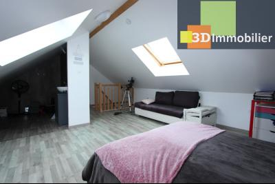 Bletterans centre (39140), à vendre maison de plain-pied avec 5 chambres sur 502 m² de terrain., CH5 AVEC AMENAGEMENT POSSIBLE POU RPIECE SDE