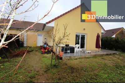 Bletterans centre (39140), à vendre maison de plain-pied avec 5 chambres sur 502 m² de terrain., TERRASSE PLEIN SUD