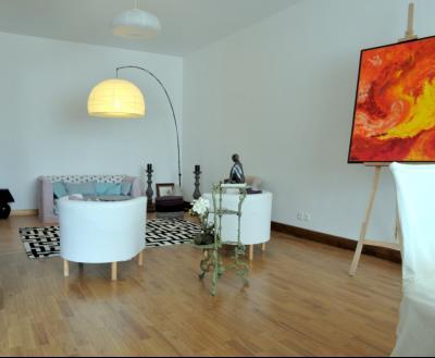 SECTEUR OUEST TOURNUS GRANDE MAISON EN PIERRES 340 m2 RENOVEE STYLE CONTEMPORAIN, petit salon
