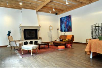 SECTEUR OUEST TOURNUS GRANDE MAISON EN PIERRES 340 m2 RENOVEE STYLE CONTEMPORAIN, cour intérieure véranda