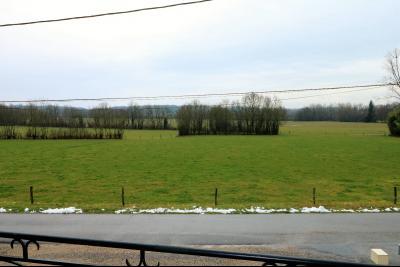 Secteur LOUHANS,Vends ensemble de 3 maisons idéalement situées entre Louhans et Chalon sur Saône., VUE DU BALCON DEVANT