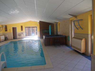 Vends bel ensemble (habitation 290m² et gîte de 158m²) piscine sur 2821m² de terrain clos et arboré., idem avec SPA 4 personnes