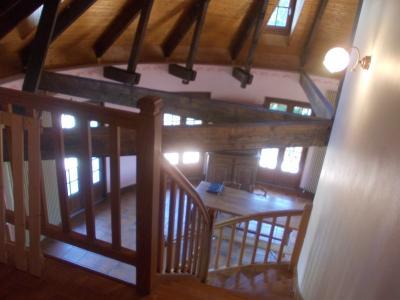 Proche Chaussin, vends belle maison de 7 pièces, 135m², dépendances sur 4800m² de terrain arboré, vue depuis mezzanine