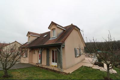 Mouchard, belle maison récente de 5 pièces, 110m², piscine, terrasse sur 1000m² de terraln clos., coté terrasse et piscine