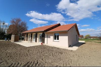 Chaumergy, à vendre agréable maison récente de 5 pièces, 95m² habitables, garage, 1400m² de terrain., Vue arrière avec terrasse