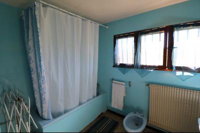 Secteur Chaussin, à vendre maison de plain-pied, 4 pièces, 90m², garage sur 700m² de terrain., salle de bain