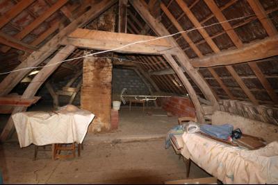 Chaumergy, vends maison de plain pied, 4 pièces, grandes dépendances 180m² sur 3469m² de terrain., combles aménageables