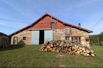 Secteur Pierre de Bresse vends corps de ferme avec dépendances sur 5500m² de terrain., Moulin vue de face