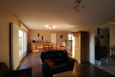 Secteur Chaussin, à vendre agréable maison récente (2008) de 7 pièces, 140m² sur 2000m² de terrain., vue sur séjour