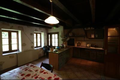 Chaussin à 2 kms vends ancienne ferme restaurée de 6 pièces, 132m² sur 2500m² de terrain clos., cuisine équipée