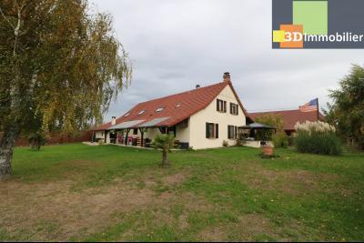 Secteur Pierre de Bresse, vends superbe maison, 9 pièces, 209m², dépendances, sur 5320m² de terrain., vue coté droit
