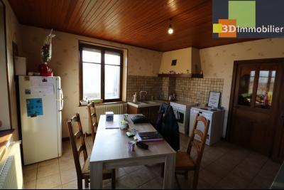 Secteur Chaussin, vends grande maison, 6 pièces, 157m², dépendances sur 2219m² de terrain clos, cuisine traditionnelle 16m²