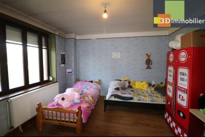 Secteur Chaussin, vends grande maison, 6 pièces, 157m², dépendances sur 2219m² de terrain clos, chambre 1 enfants 16m²