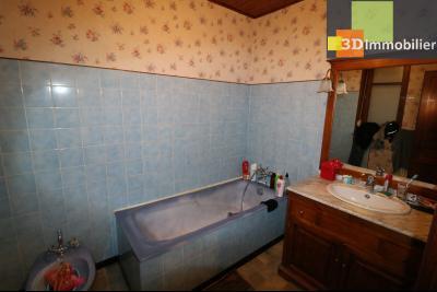 Secteur Chaussin, vends grande maison, 6 pièces, 157m², dépendances sur 2219m² de terrain clos, salle de bain