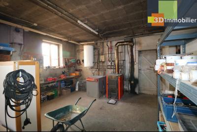 Secteur Chaussin, vends grande maison, 6 pièces, 157m², dépendances sur 2219m² de terrain clos, chaufferie
