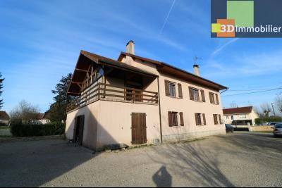 Secteur Chaussin, vends grande maison, 6 pièces, 157m², dépendances sur 2219m² de terrain clos, face gauche