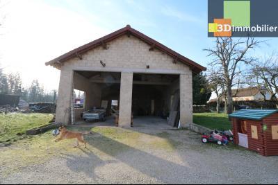 Secteur Chaussin, vends grande maison, 6 pièces, 157m², dépendances sur 2219m² de terrain clos, dépendances 90m²