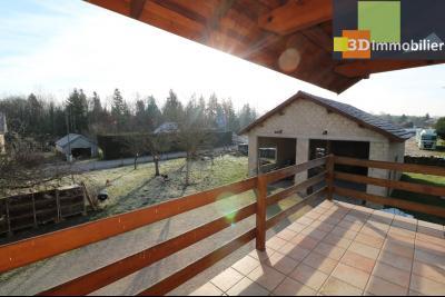 Secteur Chaussin, vends grande maison, 6 pièces, 157m², dépendances sur 2219m² de terrain clos, depuis véranda