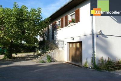 Chaussin vends confortable maison de 6 pièces, 150m², sous-sol total sur 3300 m² de terrain., vue avant avec entrée