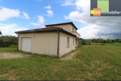 Chaussin, vends maison style provençal 7 pièces, 145 m² habitables sur terrain de 5580 m²., vue gauche avec garage