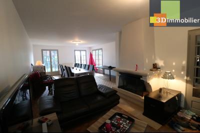 Proche CHAUSSIN vends très belle maison de 6 pièces, 196 m² , garage sur 1100m² de terrain clos., salon avec cheminée