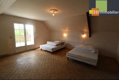 Proche CHAUSSIN vends très belle maison de 6 pièces, 196 m² , garage sur 1100m² de terrain clos., suite parentale avec accès terrasse