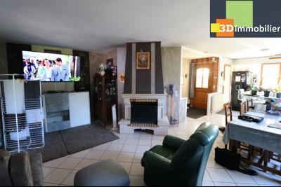 CHAUSSIN (campagne) vends agréable maison de plein-pied, 6 pièces, 118m² sur 2500m² de terrain clos, salon/séjour 30m²