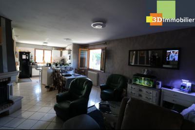 CHAUSSIN (campagne) vends agréable maison de plein-pied, 6 pièces, 118m² sur 2500m² de terrain clos, idem