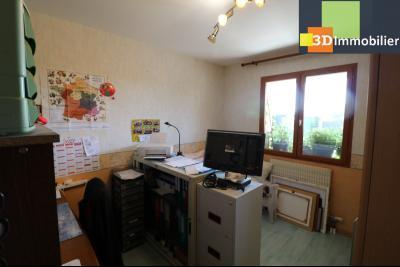 CHAUSSIN (campagne) vends agréable maison de plein-pied, 6 pièces, 118m² sur 2500m² de terrain clos, chambre/bureau 2