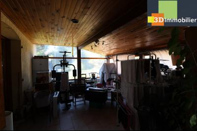 CHAUSSIN (campagne) vends agréable maison de plein-pied, 6 pièces, 118m² sur 2500m² de terrain clos, véranda