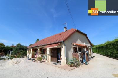 CHAUSSIN (campagne) vends agréable maison de plein-pied, 6 pièces, 118m² sur 2500m² de terrain clos, vue droite