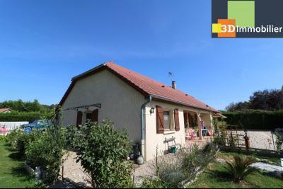 CHAUSSIN (campagne) vends agréable maison de plein-pied, 6 pièces, 118m² sur 2500m² de terrain clos, vue gauche